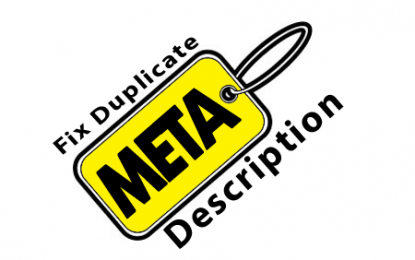 How to fix Duplicate Meta Description in Webmaster tool For Blogger using Robots.txt