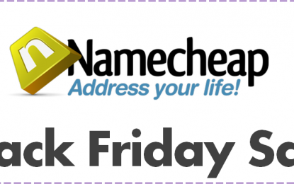 Black Friday And Cyber Monday on Namecheap